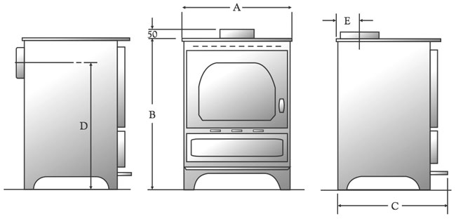 Dunsley Stove Sizes