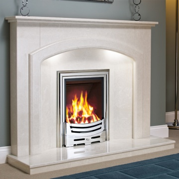 Be Modern Andorra Marble Fireplace