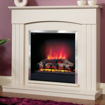 Be Modern Linmere Electric Fireplace Suite - Almond Stone Effect