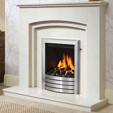 Be Modern Rossano Marble Fireplace