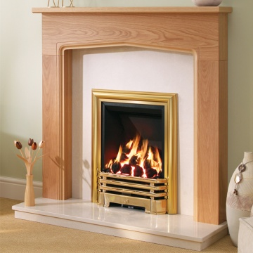 Be Modern Tudor Wood Fireplace