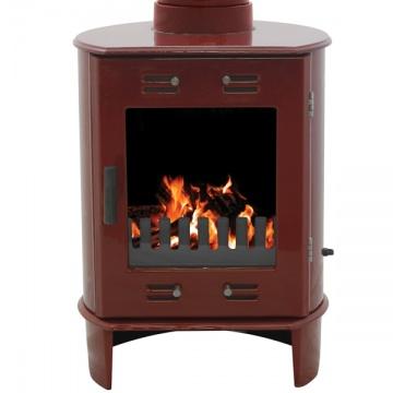 Carron Dante Wood Burning Stove - Enamel Finish | Flames.co.uk