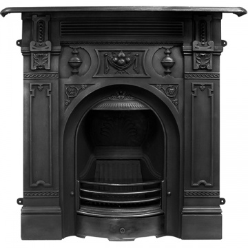 Carron Victorian Large Cast Iron Combination Fireplace