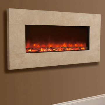 Celsi Electriflame XD Travertine Wall-Mounted Electric Fire