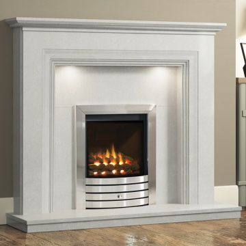 Elgin & Hall Odella Marble Fireplace