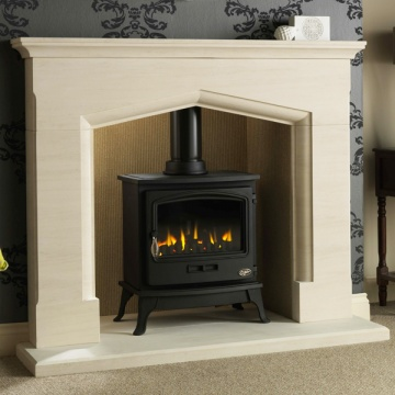 coniston fireplace with optional tiger gas stove