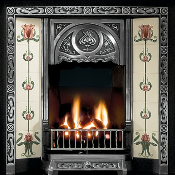 Gallery Tulip Cast Iron Tiled Fireplace Insert