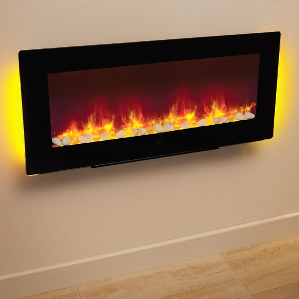 Contemporary Free Standing Electric Fires: Be Modern Amari Wall Mounted Or Free Standing Electric