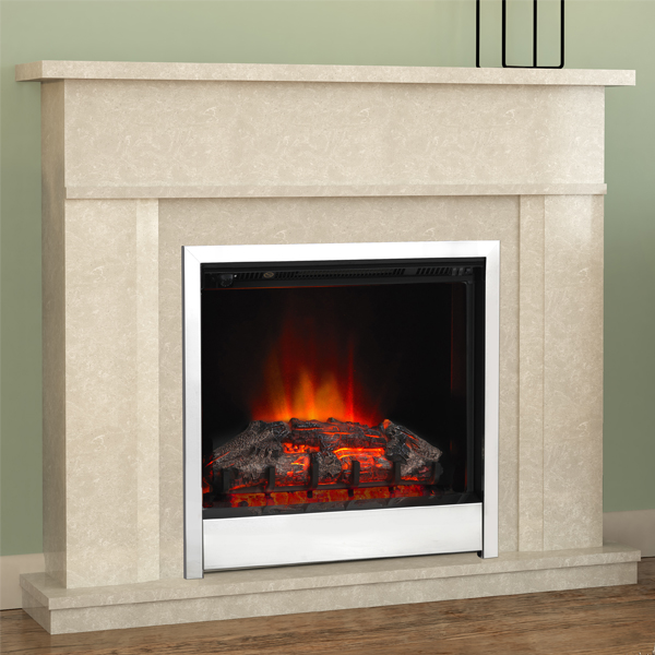 Modern Electric Fire Suites Part - 50: Be Modern Benito Marble Electric Fireplace Suite Flames