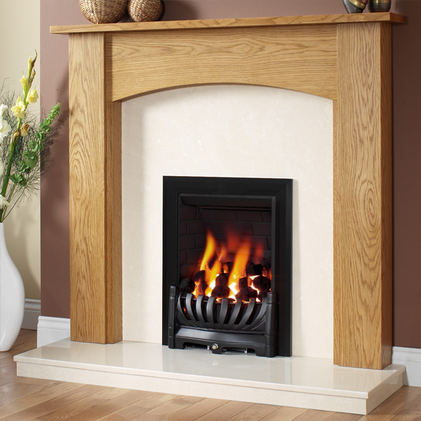 this charming wooden fireplace surround is offered in a choice of