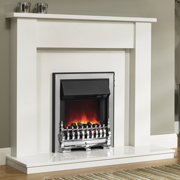 Be Modern Elda Marble Fireplace Flames Co Uk