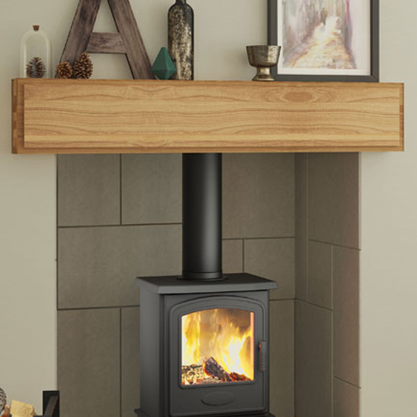 Be Modern Mayley Solid Oak Fireplace Beam Flames Co Uk