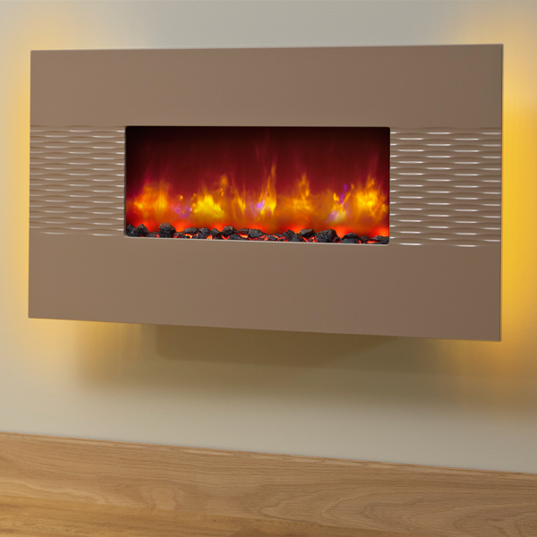 Marvelous Electric Wall Fires Uk Part - 8: Be Modern Orlando Cappuccino Electric Fire