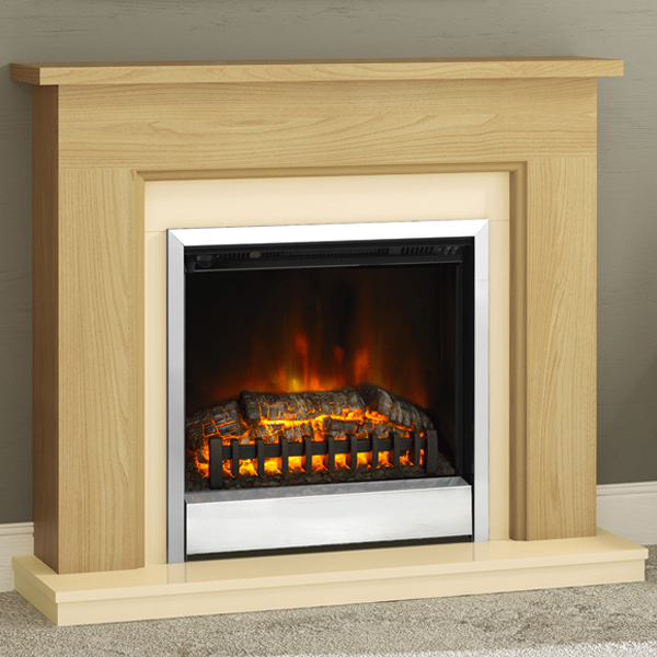 Lovely Modern Electric Fire Suites Part - 14: Be Modern U0027Plusu0027 Calderdale Electric Fireplace Suite