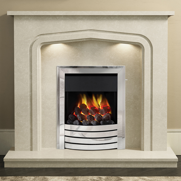 Be modern 39 plus 39 cassola marble fireplace for Large modern fireplaces