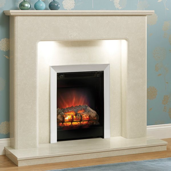 Be Modern Valencia Marble Fireplace   Flames.co.uk