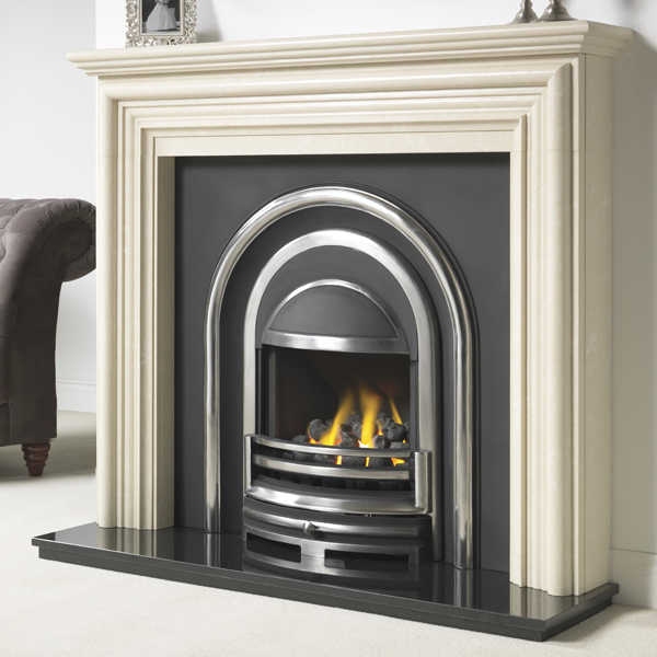 Cast Tec Alnwick Marble Fireplace | Flames.co.uk