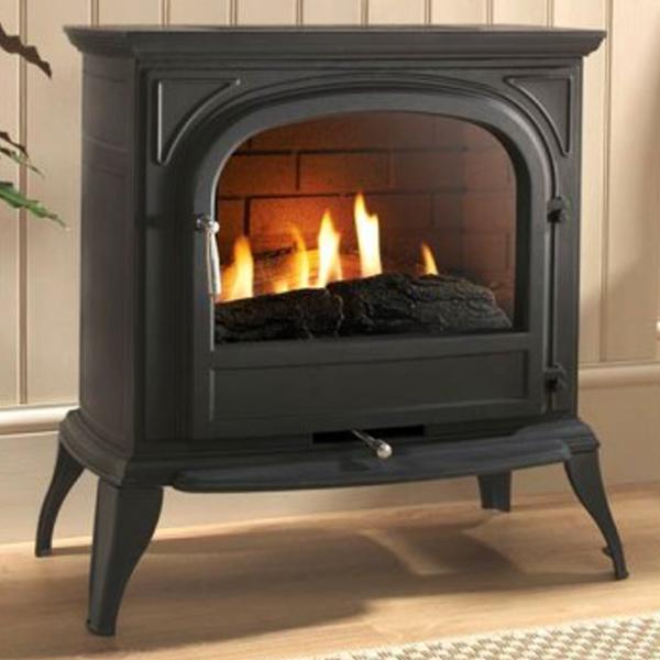 Flueless Gas Fires: Ekofires 6010 Flueless Gas Stove