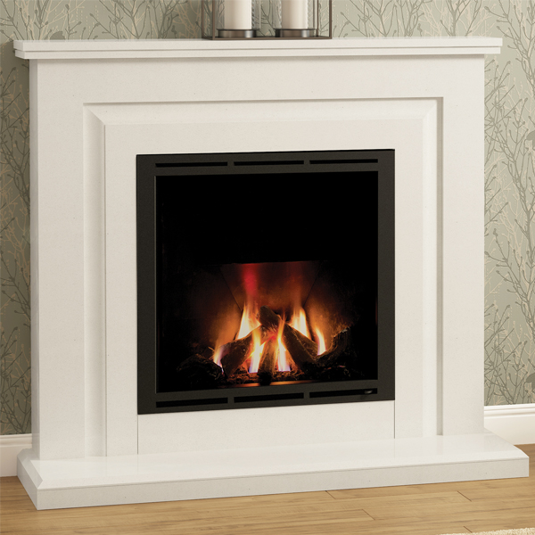 Elgin Amp Hall Mariella Marble Gas Fireplace Suite Flames