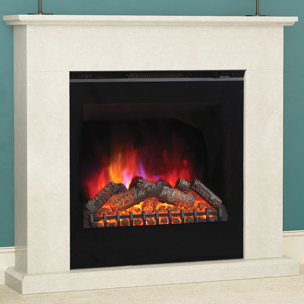 Elgin Hall Vittoria Marble Electric Fireplace Suite