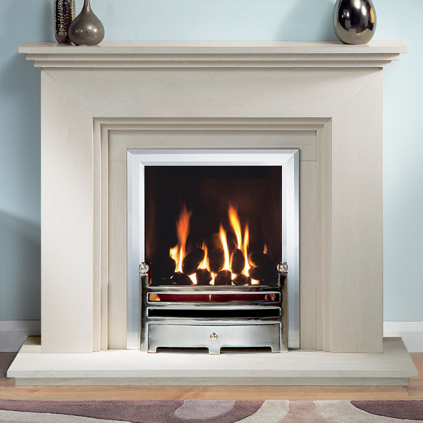 Gallery cranbourne portuguese limestone fireplace suite for Buy stone for fireplace