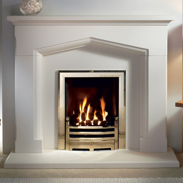Gallery kendal jurastone fireplace suite for Buy stone for fireplace