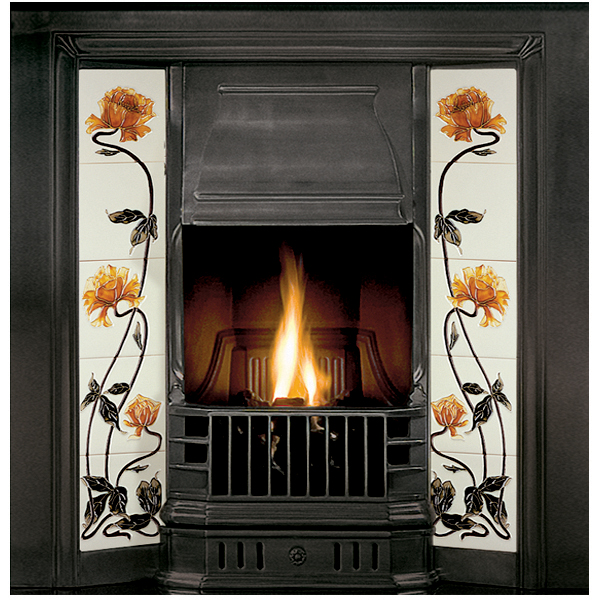 Gallery Prince Cast Iron Tiled Fireplace Insert