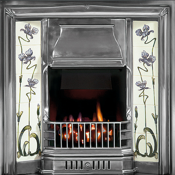Gallery sovereign cast iron tiled fireplace insert for Fireplace insert options