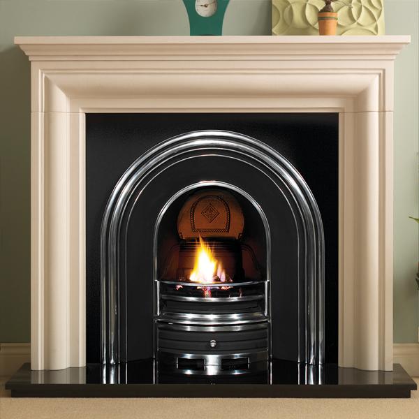 Pureglow Wenlock Limestone With Cast Insert Fireplace