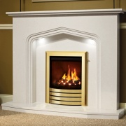 Be Modern Elma Marble Fireplace