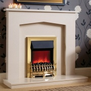 Be Modern Melrose Marble Fireplace