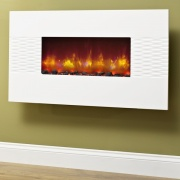 Be Modern Orlando Gloss White Electric Fire