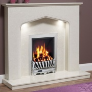 Be Modern Piera Marble Fireplace