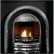 Gallery Bolton Cast Iron Fireplace Insert (with Cast Back)