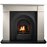 Gallery Brompton 56'' Agean Limestone Fireplace (Crown)