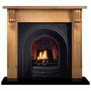 Gallery Grand Corbel Wooden Fireplace