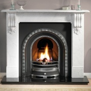 Gallery Kingston 56'' Cararra Marble Fireplace