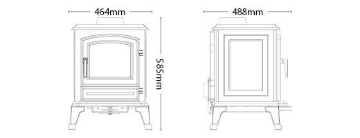 Haute Définition résistant à la Chaleur Verre Broseley York midi petite MK2 GS235182