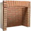 Fireplace Chambers in Brick or Natural Stone - Perfect for Wood Burning Stoves