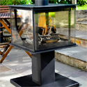 Legend Garden Cube - Feel warm and cosy on a chilly evening thanks to this stylish outdoor wood burning heater