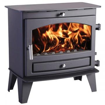 Avalon 8 Slimline Wood Burning Multi Fuel Stove Flames