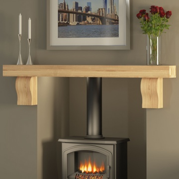 Be Modern Celia Solid Oak Fireplace Beam