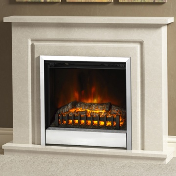 Be Modern 'Plus' Temperley Marble Electric Fireplace Suite