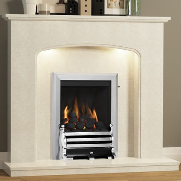 Be Modern Viola Marble Fireplace