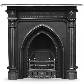Carron Gothic Cast Iron Combination Fireplace