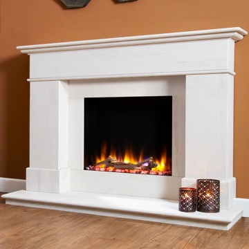 Celsi Ultiflame VR Avignon Limestone Electric Fireplace Suite