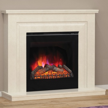 Elgin & Hall Mariella Marble Electric Fireplace Suite