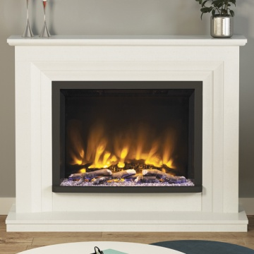 Elgin & Hall Pryzm Cabrina 52'' Marble Electric Fireplace Suite
