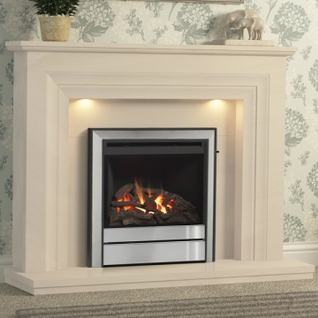 Elgin & Hall Vitalia Limestone Fireplace