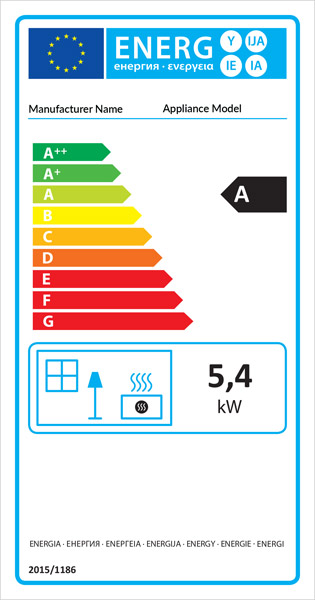 Wood Burning Stove Energy Label